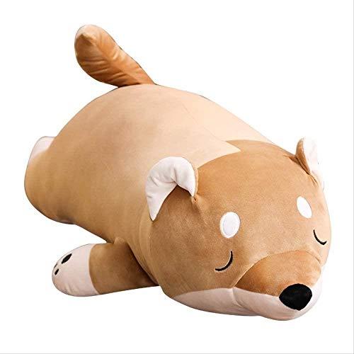 SHOP YJX Plüschtiere Cotton Liegen Gefüllte Hund Puppe Eiderdaune Pop Tier Kinder Geburtstags-Geschenk Corgi-Kissen (Size : 55cm)