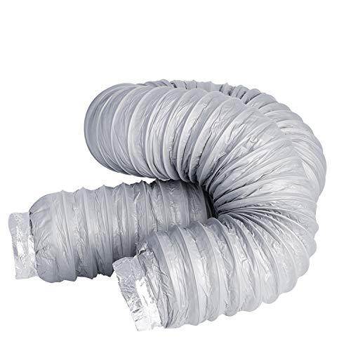 Tubo de silenciador de 100 mm, HG Power, tubo flexible de salida de aire, aislamiento térmico silencioso, manguera de ventilación, tubo flexible de aluminio, longitud 1,2 m (diámetro 100 mm x 1,2 m)