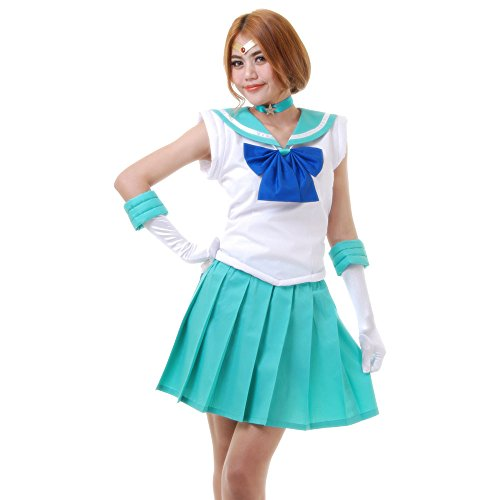 Michiru Kaioh Sailor Neptun Kostüm Japanische Schuluniform Baumwolle S