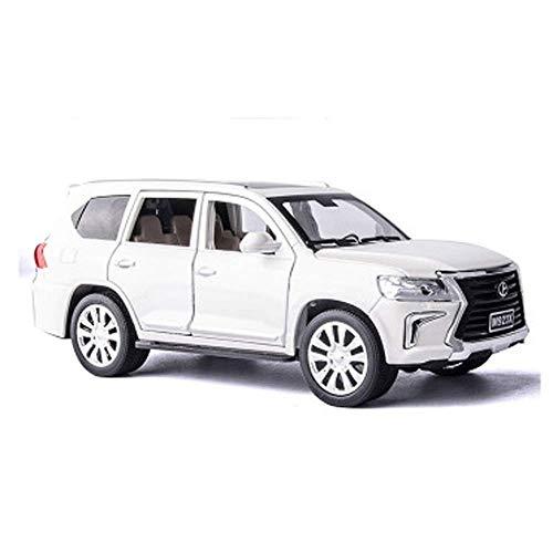 LKOER Modelo de automóviles, 1:24 Aleación de simulación Adornos de Juguete de Juguete, colección de Adornos de Coche de Joyería 20x15x7cm (Color: Blanco) jinyang (Color : White)