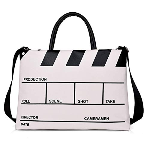 Laptop Tote Bag Women,handbag Large Shoulder Shopping Satchel For School Travel Work Business Fit Laptop And Macbook, PU,14-16 Inch,White,16Inch
