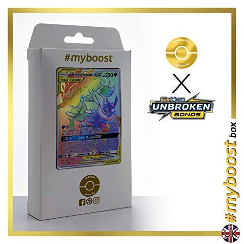 Greninja & Zoroark-GX (Amphinobi et Zoroark-GX) 222/214 ARC en Ciel Secrète - #myboost X Sun & Moon 10 Unbroken Bonds - Coffret de 10 Cartes Pokémon Aglaises
