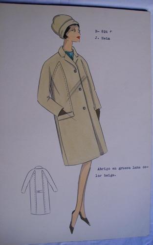FIGURIN ORIGINAL ACUARELADO - Original watercolor design costume - J. HEIM :...