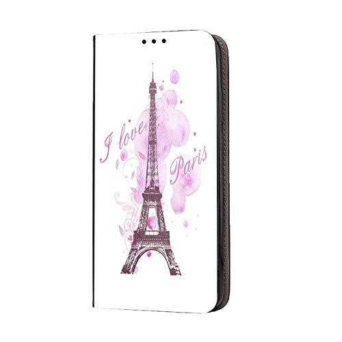 Hülle für iPhone 7 / 8 / SE 2020 Handyhülle Motiv 1078 Eifelturm Paris Frankreich Rosa Pink Premium Smart aus Kunstleder einseitig bedruckt HandyCover Handyhülle für iPhone 7 / 8 / SE 2020 Hülle