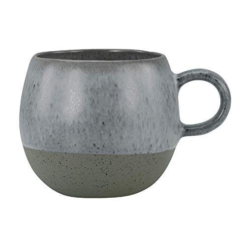 CreaTable Loft Stone Kugel Kaffeebecher, Steinzeug, grau