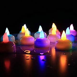 YAYITAI 12Pc Floating Candle Lamp LED Waterproof Flickering Flameless Electronic Candle Tea Light Wedding Christmas Birthd...