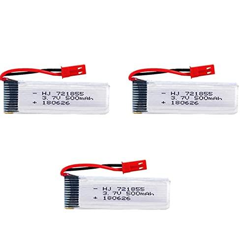 YUNIQUE Italia 3 Pezzi Batteria Lipo Ricaricabile (3.7V 500mAh) per RC Droni quadricotteri UDI U817 U817C U817A U818A WLtoys V959 V969 V979 V989 V999 V929 V949 V212 V222 RC