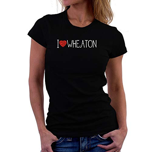 Teeburon I Love Wheaton Cool Style Camiseta Mujer