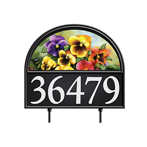 Collections Etc Four Seasons Address Marker Garden Decor Yard Stake