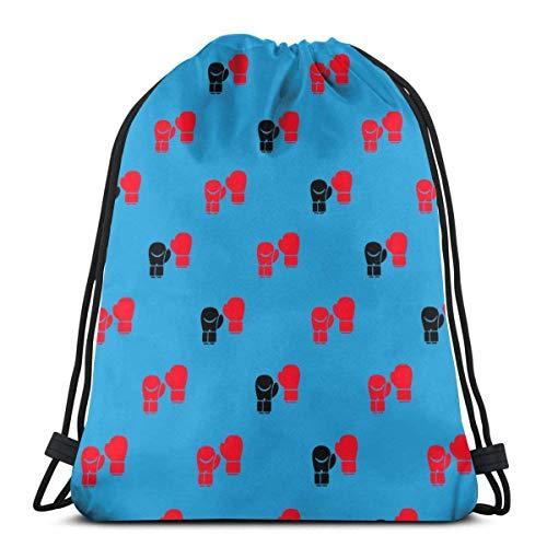 AOOEDM Boxhandschuhe Kordelzug Tasche Wasserdichter Rucksack Aufbewahrung Sackpack für Outdoor-Wanderungen Reisesport Unisex