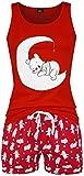 Photo de Winnie l'ourson Pois Femme Pyjama Rouge XL, 100% Coton,