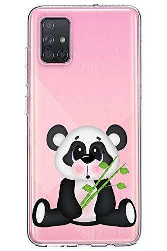 Oihxse Silicone Crystal Coque pour Samsung Galaxy C9 Pro Ultra-Thin Transparente Gel TPU Souple Etui Design Motif Mignon Panda Protection Antichoc Housse Bumper (Panda A2)