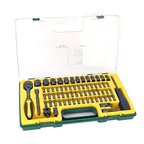 Steckschlüsselsatz -69St. Ratschenschlüssel Steckschlüsselsatz Autoreparaturkombination Ausbau Installationswerkzeugsatz