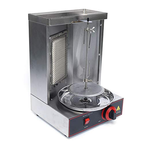 3000W 220V Vertikal Gas Doner Kebab Machine LPG Gas Döner Kebab Maschine Tischgrill Döner BBQ Edelstahl 295x 295x490mm