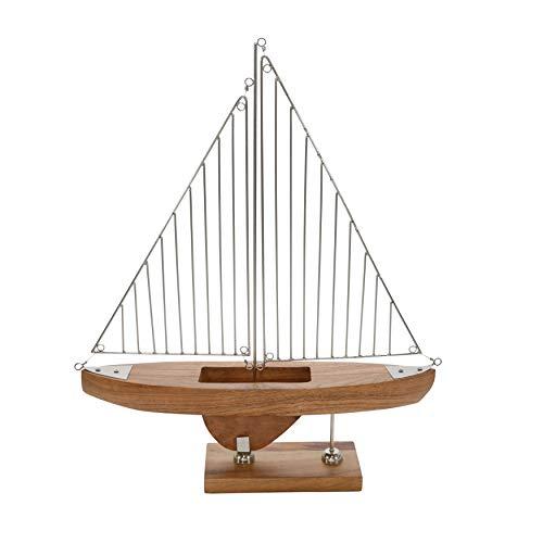 Sagebrook Home 15189 Holz/Metall 55,9 cm H Draht Segelboot, braun, 48,3 cm L x 10,2 cm B x