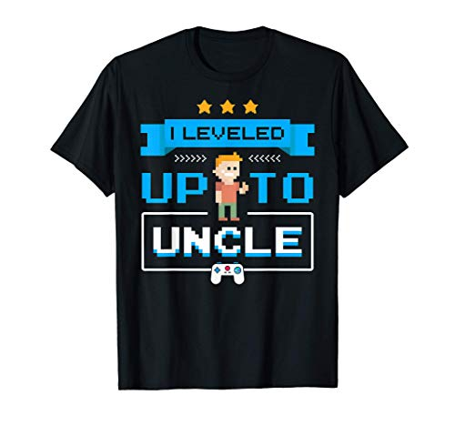 Leveled Up To Uncle Pregnancy Announcement T-Shirt