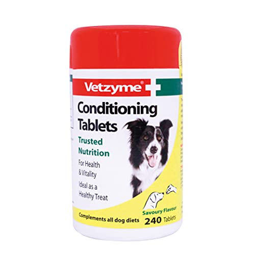 Vetzyme Conditioning Tablets for Dogs (Pot Size: 240 Tablets),