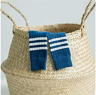 Lovely Socks Children Cotton Socks Kids Spring Stripe Pattern Athletic Mid Tube Socks(Black) Newborn Sock (Color : Navy, Size : S)