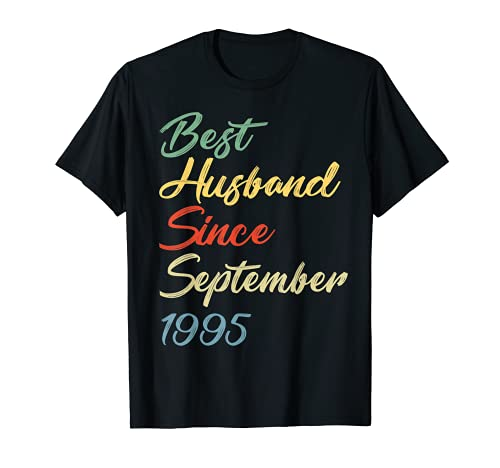 Aniversario de boda Mejor marido desde septiembre de 1995 Camiseta