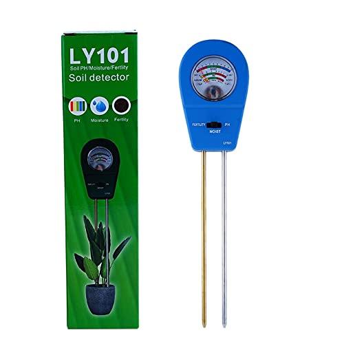 Medidor de pH de suelo, tres en uno, medidor de humedad, fertilidad y pH, para el cuidado de las plantas, sin batería, para interiores y exteriores, para el jardín