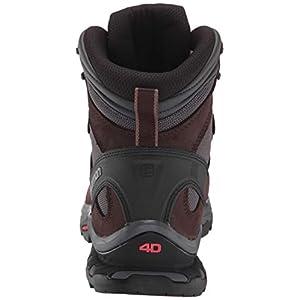 Salomon Women's Quest 4D 3 GTX Backpacking Boots, Ebony/Chocolate Plum/Peppercorn, 8