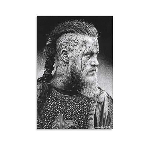 Ragnar Poster Cuadro decorativo Lienzo Arte Pared Sala Poster Dormitorio Pinturas 60x90 cm