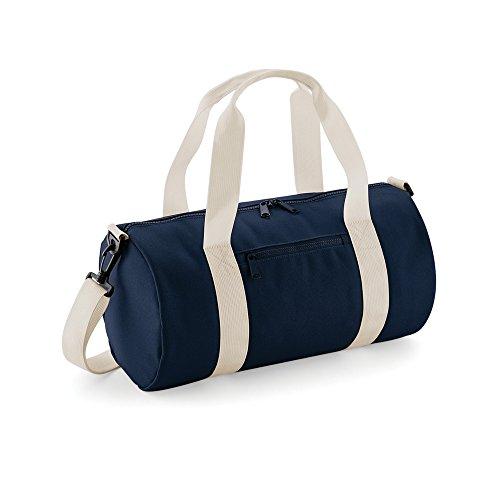 Bagbase Mini Barrel Shoulder Bag (One Size) (French Navy/Off White)
