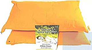 The Pillow Case for Body Grounding(2 Sets) - Improve Quality of Sleep, RF/EMFs Protection, 90% Cotton, 10% Noble Metal,and...
