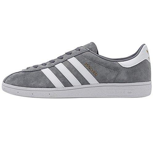 Adidas - Munchen - BY1720 - El Color Blanco-Gris-Dorado - Talla: 46.0