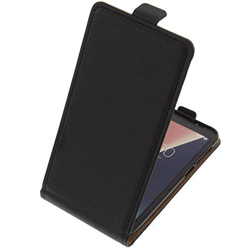 foto-kontor Tasche für Vodafone Smart N8 Smartphone Flipstyle Schutz Hülle schwarz