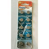 PoundMax® 10 Pilas de botón alcalinas AG13 LR44 1,5 V