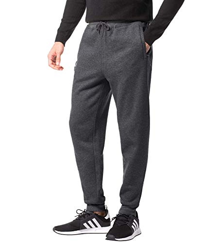 LAPASA Men's Jogger Pants Fleece Lined with Zipper Pockets Sports & Workout Sweatpants M22