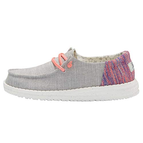 Hey Dude Girl's Wendy Youth Funk Grey, Size 3