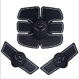 FGDSA Cinture per Massaggio Fitness per Allenamento Addominali, Stimolatori Elettrici Sport all'Aria Aperta Adesivo per Allenatore di Muscoli Addominali, Cuscinetto Idrogel per Braccio Wireless EMS