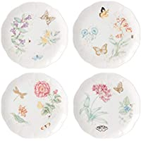 4-Piece Lenox Butterfly Meadow Gold Assorted Dinner Plates