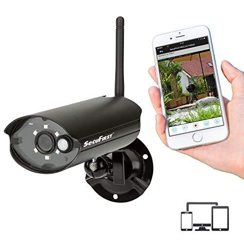 CAM212 - Kompakte IP-Überwachungskamera in Profi-Qualität, LAN oder WLAN, Full HD 1080P, PIR-Bewegungsmelder, Wetterfest, Mikrofon, Nachtsicht, PIR Sensor, Keine versteckten Kosten, Micro-SD Slot