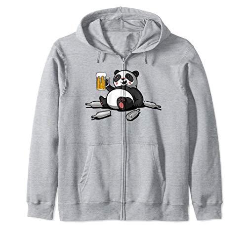 Oso Panda Bebe Cerveza Animal Divertido Fiesta Party Hombres Sudadera con Capucha