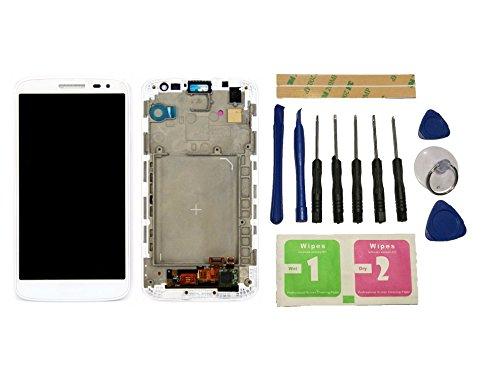 Flügel para LG G2 mini D620 D618 Pantalla LCD pantalla Blanco Táctil digitalizador Completo Pantalla ( con marco ) de Recambio & Herramientas