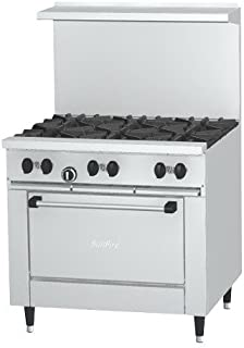 garland 6 burner gas range