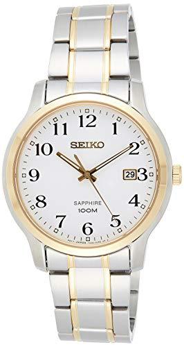Seiko Herren Analog Quarz Uhr mit Edelstahl beschichtet Armband SGEH68P1