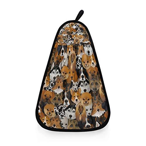 AUUXVA BIGJOKE - Toalla de baño de mano para cocina con patrón de perro absorbente, toallitas lavables, paño de limpieza con práctico lazo para colgar, secado rápido para el baño