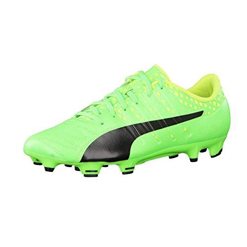 Puma Herren Fussballschuhe evoPOWER Vigor 3 Lth FG 103961 Green Gecko Black-Safety Yellow 46.5