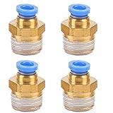 JJDD PC10-01 - Conector neumático para tuberías de aire,...