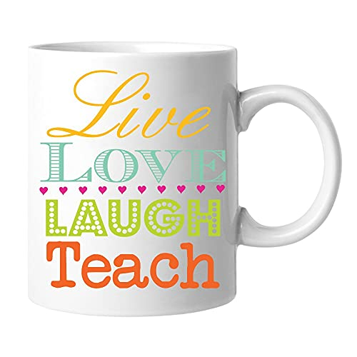 Taza de café Live Love Laugh Teach