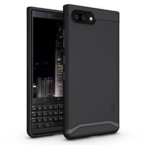 TUDIA DualShield Schutzhülle für BlackBerry KEY2 Hülle, robust, schmal, Hartschale für BlackBerry KEY2 [Nicht kompatibel mit KEY2 LE / KEY2 Lite] (Matte Black)