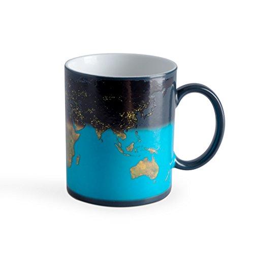 Balvi Mug Sunrise Cambia de Color! Taza con Dibujo de la Tierra...