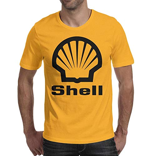 GuLuo Shell-Gasoline-Gas-Station-Locator Men's Tshirt O Neck Printed Short Sleeve Tee