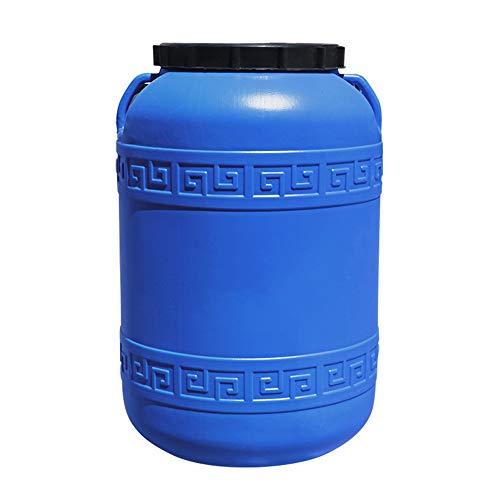 MNSSRN Cubo de plástico de Gran Capacidad a Prueba de luz Azul, Cubo de Almacenamiento de Agua del hogar Redondo, Cubo de Fertilizante portátil/Cubo químico/cubeta de Lavado de Autos