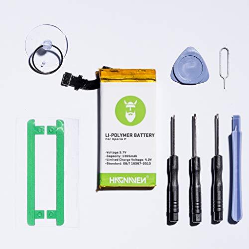 Hagnaven® Li-polymeer accu voor Xperia P (LT22i) incl. gereedschap | hoge capaciteit | krachtige reserveaccu | 1365 mAh | Vervangt AGPB009-A001 | Kwaliteitscellen en de beste accuduur