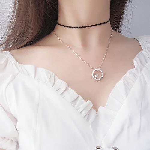 Collar Reloj 520 Collar Estilo Coreano Señoras Pendientes Temperamento Clavícula Cadena Moda Estudiante Accesorios Regalo de Acción de Gracias Regalo de Cumpleaños El Para Amigos Cercanos